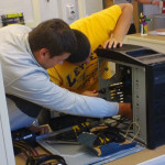 TSI students building a computer