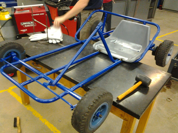 Skills USA Club's Latest Project Is Go-Karts