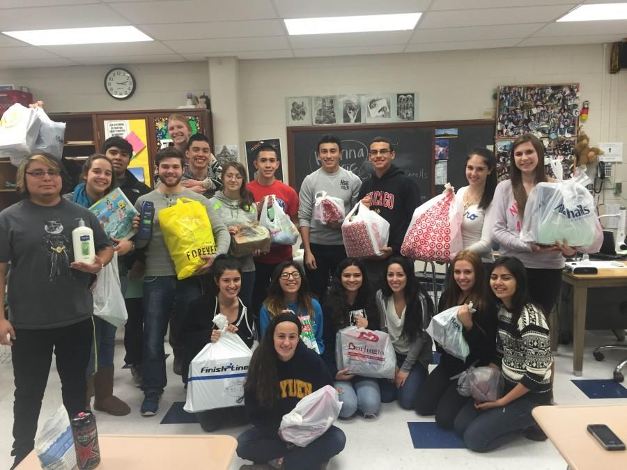 Students supporting Predovich's special project.