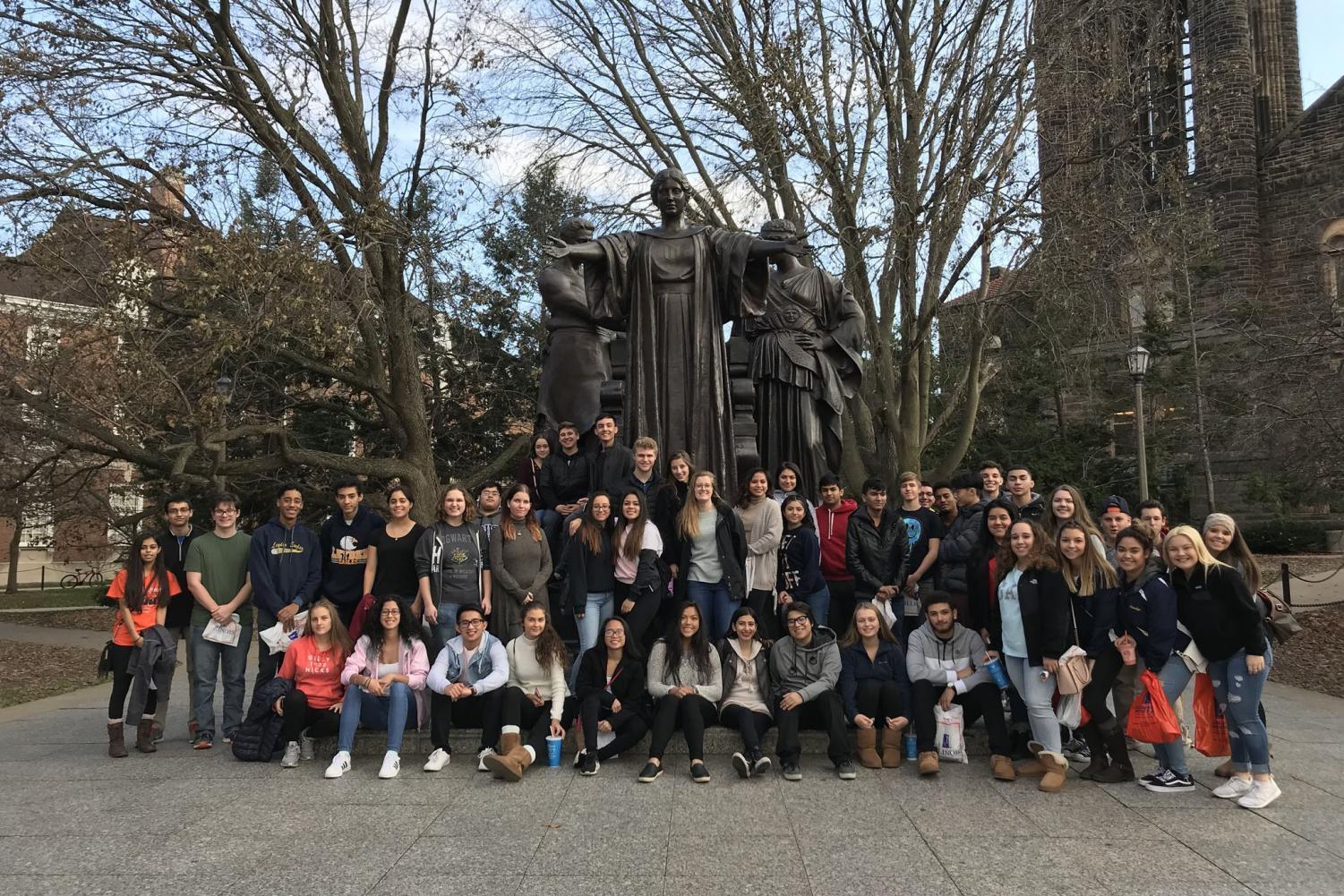 A group of students took a trip down to the University of Illinois.