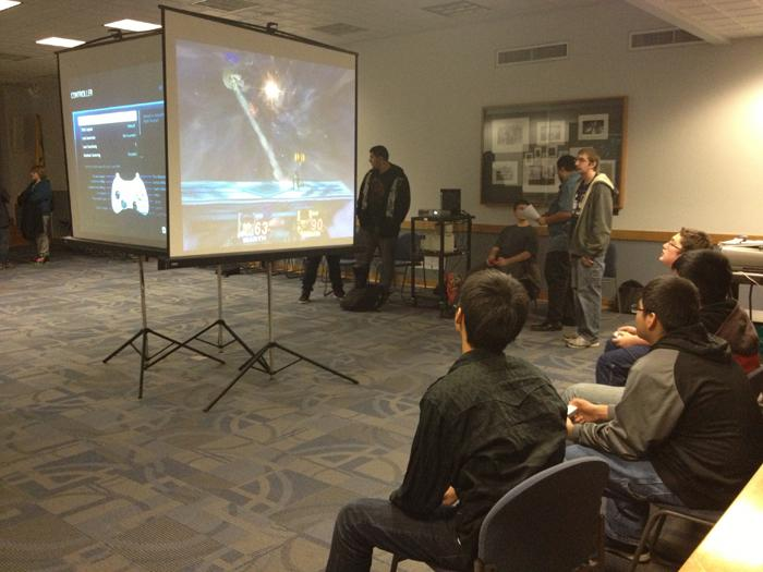Students play video games